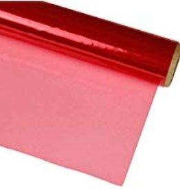 Transparent Basket Wrap (Cellophane) Red