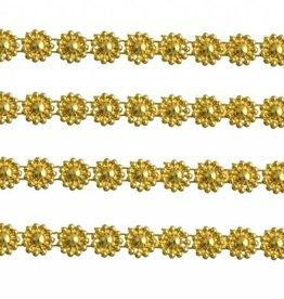 Plastic Trim Full Flower 8Mm Gold