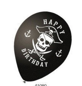 2 Sides Party Balloons Pirate - 10Ct