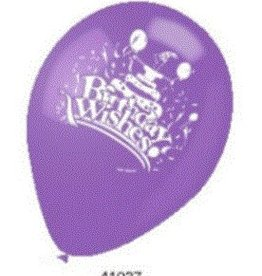 12 inches 2-SIDED PRINTED BALLOONS, BIRTHDAY WISHES (10 pieces)