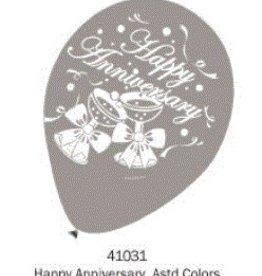 Helium Quality Balloon Happy Anniversary 12 Inches