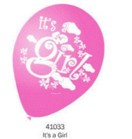 Helium Quality Balloon It's A Girl 12 Inches