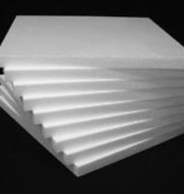 Styrofoam Square White 1/2 Inch 10x10 Inches