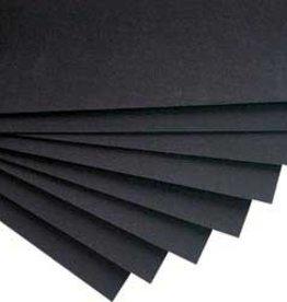 Black Bristol Board
