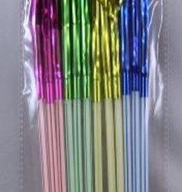 12Ct Tinsel Palm Tree Straws Assorted