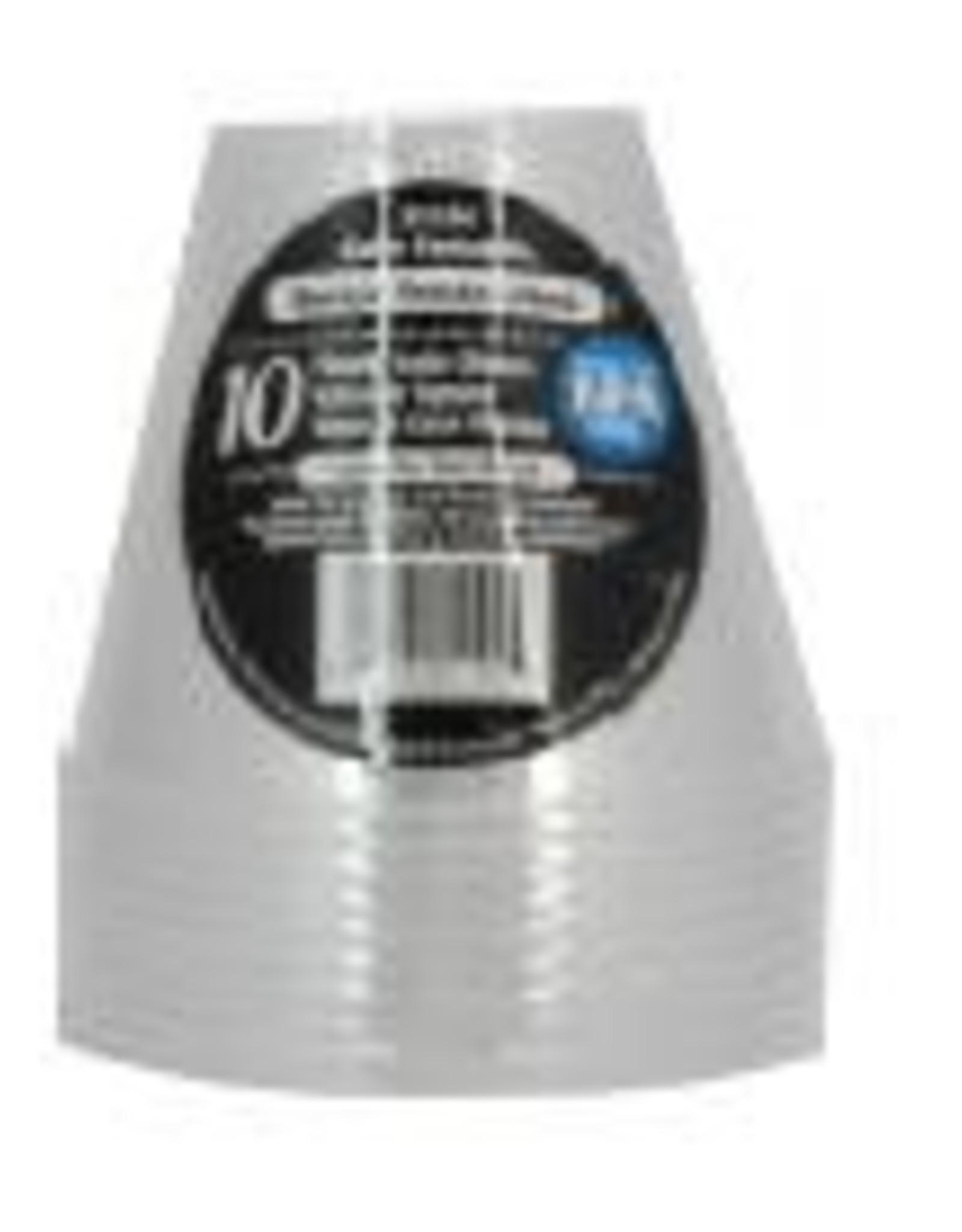 10ct 9oz Plastic Soda Glass, Clear
