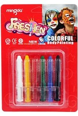 Colorful Body Painting Assorted 6Pcs