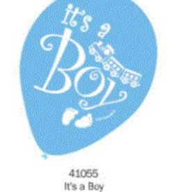 Helium Quality 2 Sides Printed Balloons (It'S A Boy) Assorted Colours 12 Inch Round