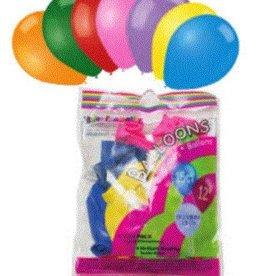 Helium Quality Balloons Premium (15 Pcs) Assorted Colours 12 Inch Round