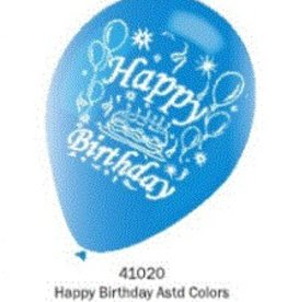 Happy Birthday Balloons 12 inches Round
