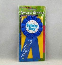 HAPPY BIRTHDAY AWARD RIBBON, BOY