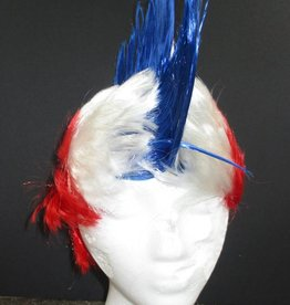 Mohawk Wig - Blue/White/Red