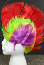Mohawk Wig - Red/Lime/Yellow/Purple