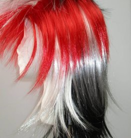 Punk Wig - Red/White/Black