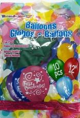 10Ct 12 Inches Party Balloons Feliz Cumpleaños