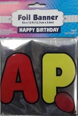 12Ft Foil Banner Tape, Happy Birthday