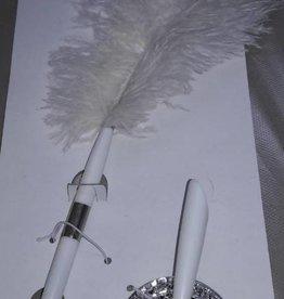 Feather Pen Set White
