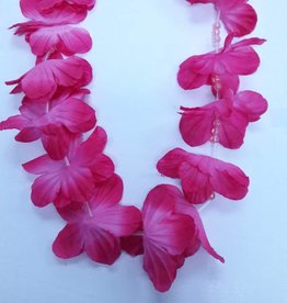 Luau Flower Lei - Assorted Two Colour With Beads