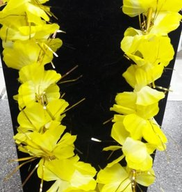 Luau Flower Lei - Assorted Colour With Metallic Tinsel