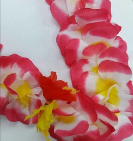 Luau Flower Leis Assorted Large petals with Red and Yellow Flowers