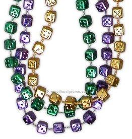 Metallic Dice Beaded Necklace