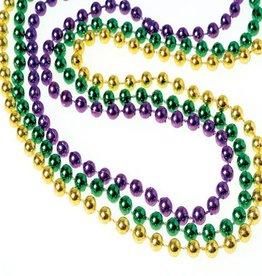 Metallic Mardi Gras Bead Necklace