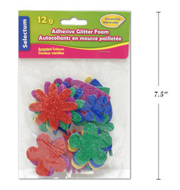 Adhesive Glitter Foam Shapes & Sizes 12 Gms Hearts, Flowers, Clovers