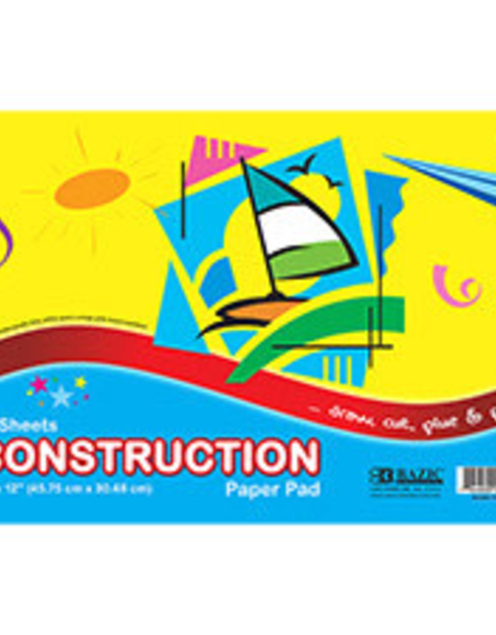 "18"" X 12"" Construction Paper Pad"