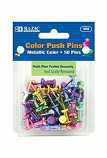 Assorted Metallic Color Push Pins