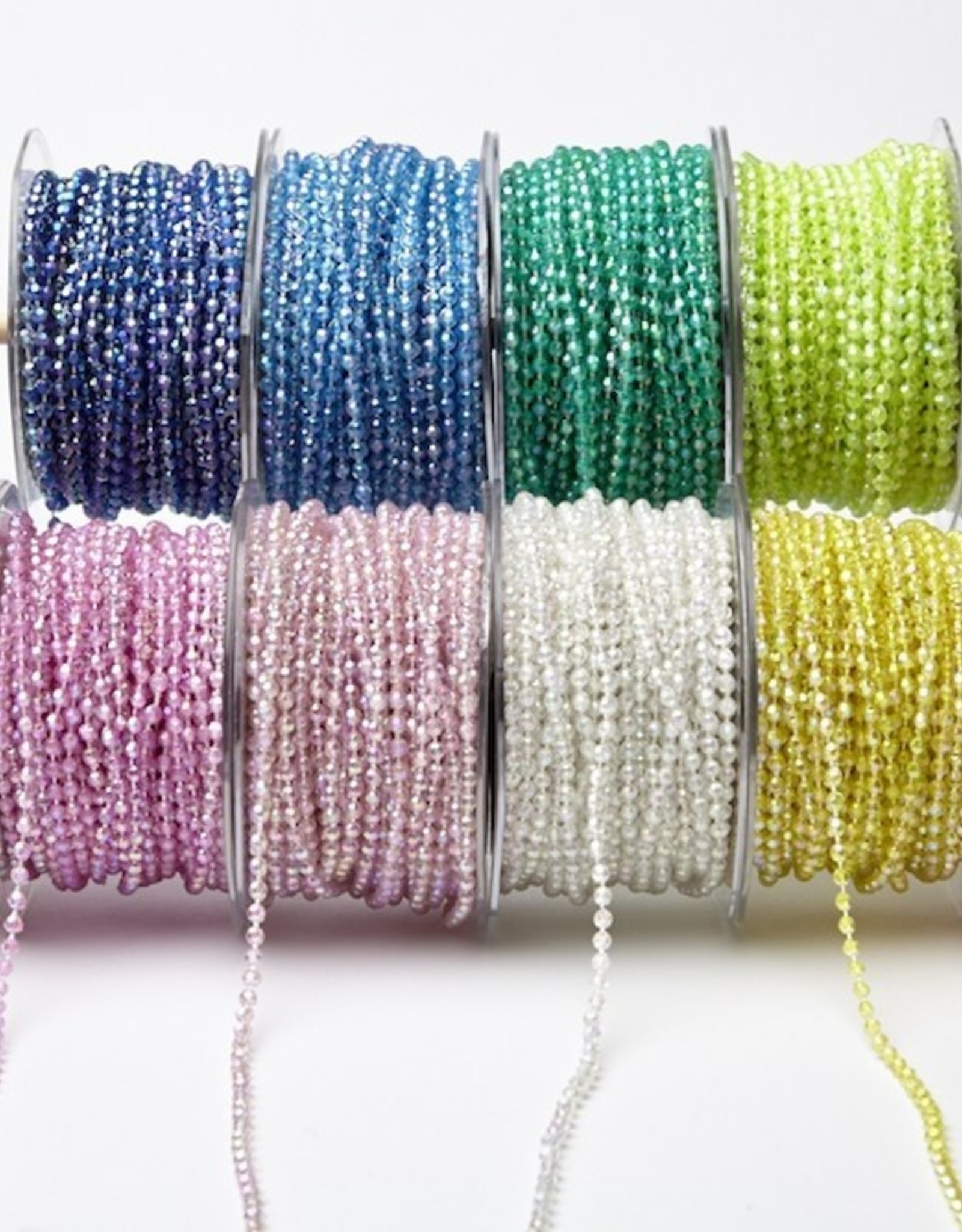 Beads On String (Roll) 6Mm Plain Assorted Colors