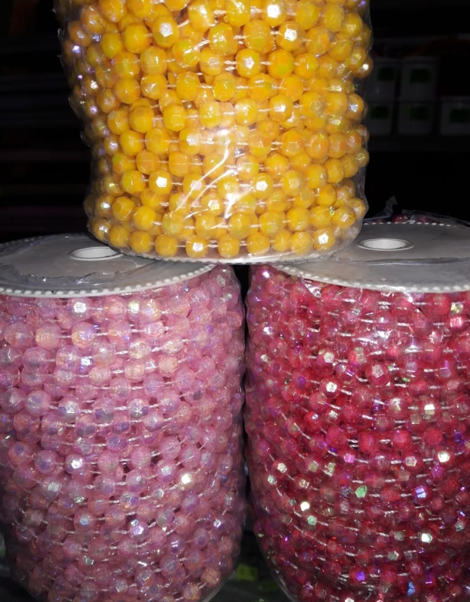 Beads On String (Roll) 6Mm Ab Assorted