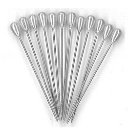 """Crown Fox - Pearlized Head Pins 2"""" (10pcs)"""