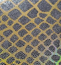 Spandex Holographic Snake Skin