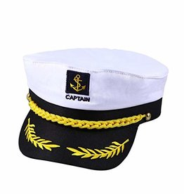 Captin Hats With Adjustable Straps White And Black