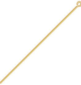 Eye Pins (12pcs) 2in 22ga (.025) Gold