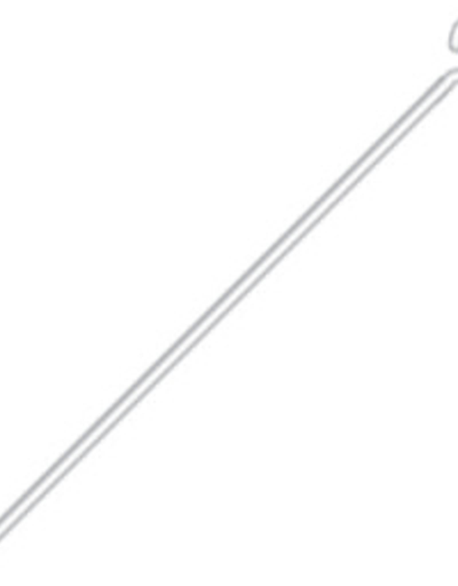Eye Pins (100 pieces) Rhodium 1 Inches 24ga(.020)