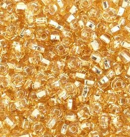 Ponybead  (500 grams) Gold 6/0 Silverlined