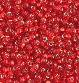 Ponybead  (500 grams) Light Red 6/0 Silverlined