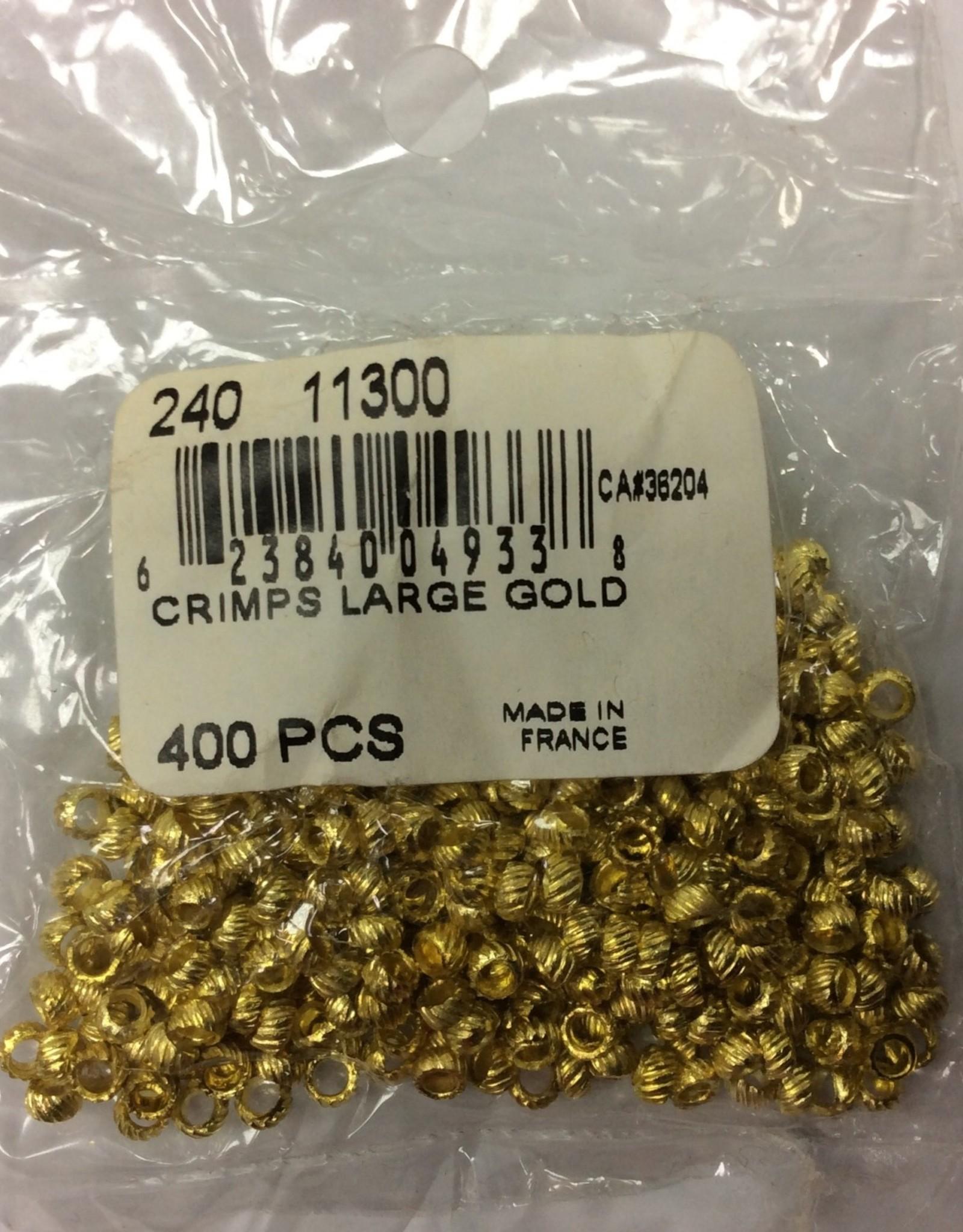 Crimps Large Gold (400pcs)