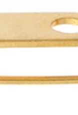 Broach Pins (Bar Pins) 0.75In Gold (100 Pieces)