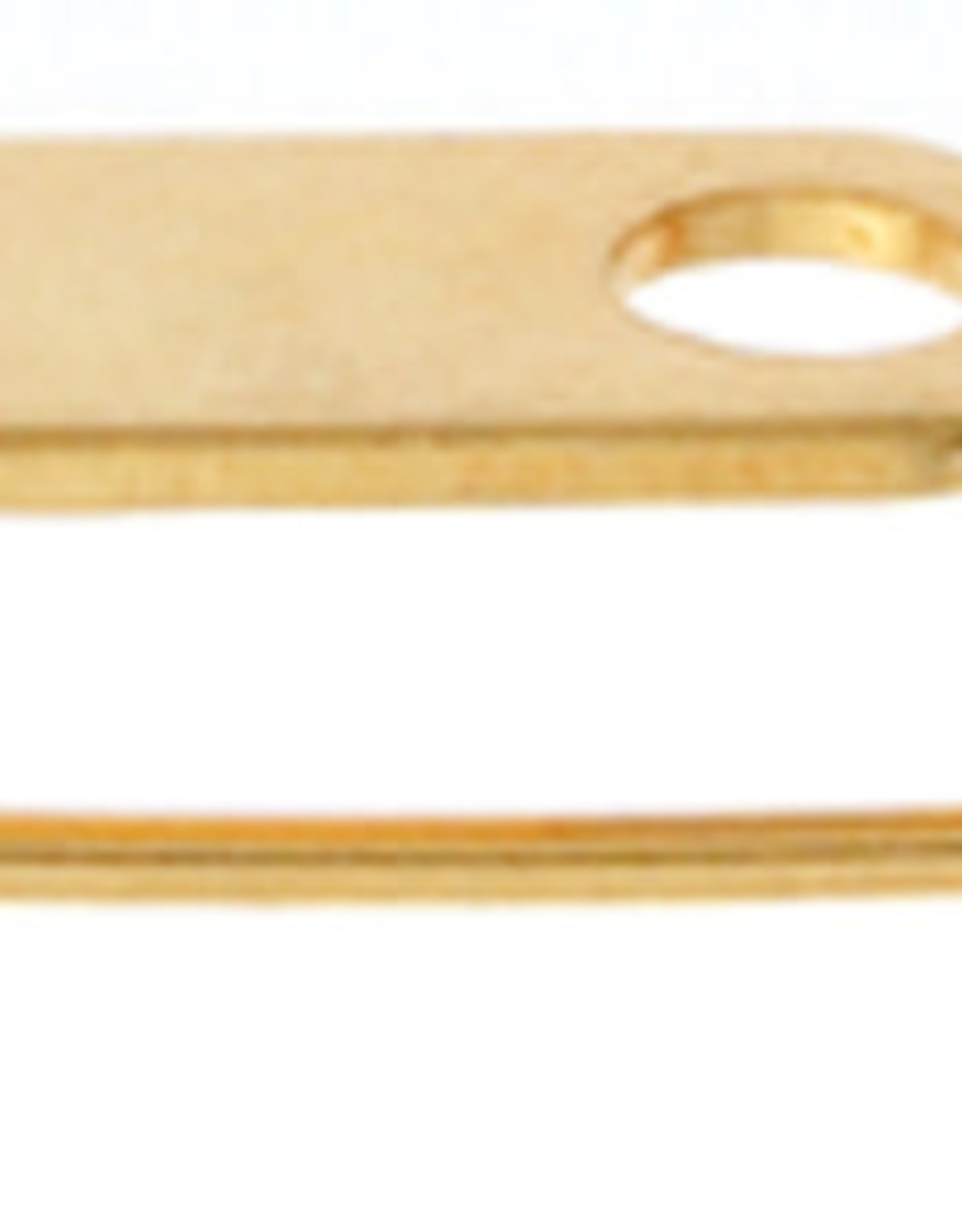 Broach Pins (Bar Pins) 0.75In Plated Gold(12 Pcs)