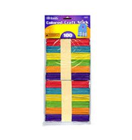 Craft Stick Wooden Multi-coloured 100pcs