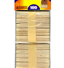 Craft Stick Wooden Natural 100pcs
