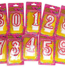 Musical Numeral Birthday Candle