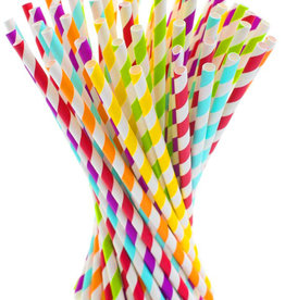 Party Paper Straws 20 Pieces