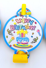6Ct Party Blowouts With Face Card, Birthday Sparkle