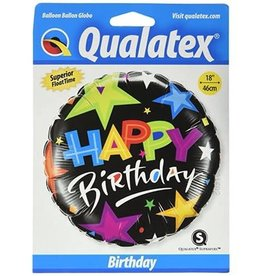 Happy Birthday Stars Balloon 18 Inch