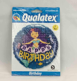 Happy Birthday Mermaid Balloon 18 Inches
