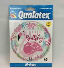 Happy Birthday Flamingo Balloon 18 Inch