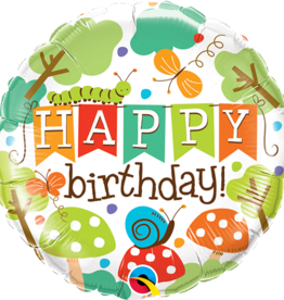 Happy Birthday Forest Critters balloon 18 Inches